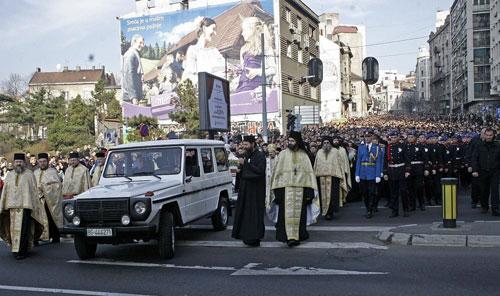 Сва Србадија дигла се да се поклони Светом патријарху