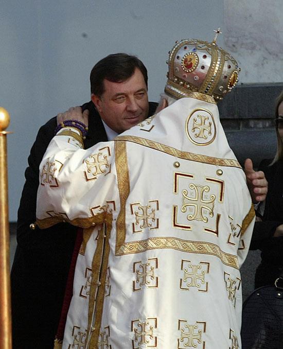 Митрополит Николај и Милорад додик
